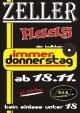 Zeller-Party am Donnerstag