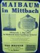 Maibaumaufstellen in Mittbach