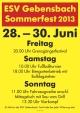 ESV Gebensbach Sommerfest mit Biergartenbetrieb und Fußballturnier