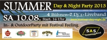 Summer Day & Night Vol.2 mit 7 DJ's und Live-Band Rockwave