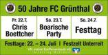 FC Grünthal 50-jähriges Vereinsjubiläum – Kabarett: Chris Boettcher - Schluss mit frustig